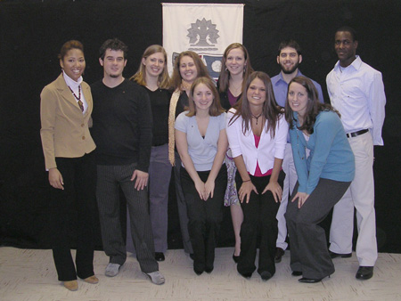 Gamma Gamma pledge class in February 2006.