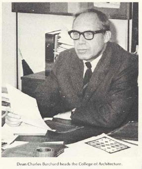 Charles Burchard in 1972 Bugle of Virginia Tech