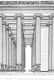 Temple of Atemis at Ephesus, reconstructed perspective